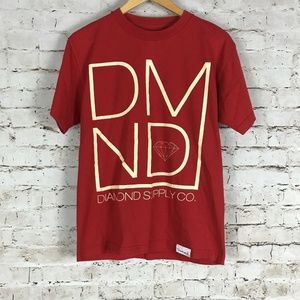 Diamond Supply Co T-Shirt Size M Red Short Sleeve